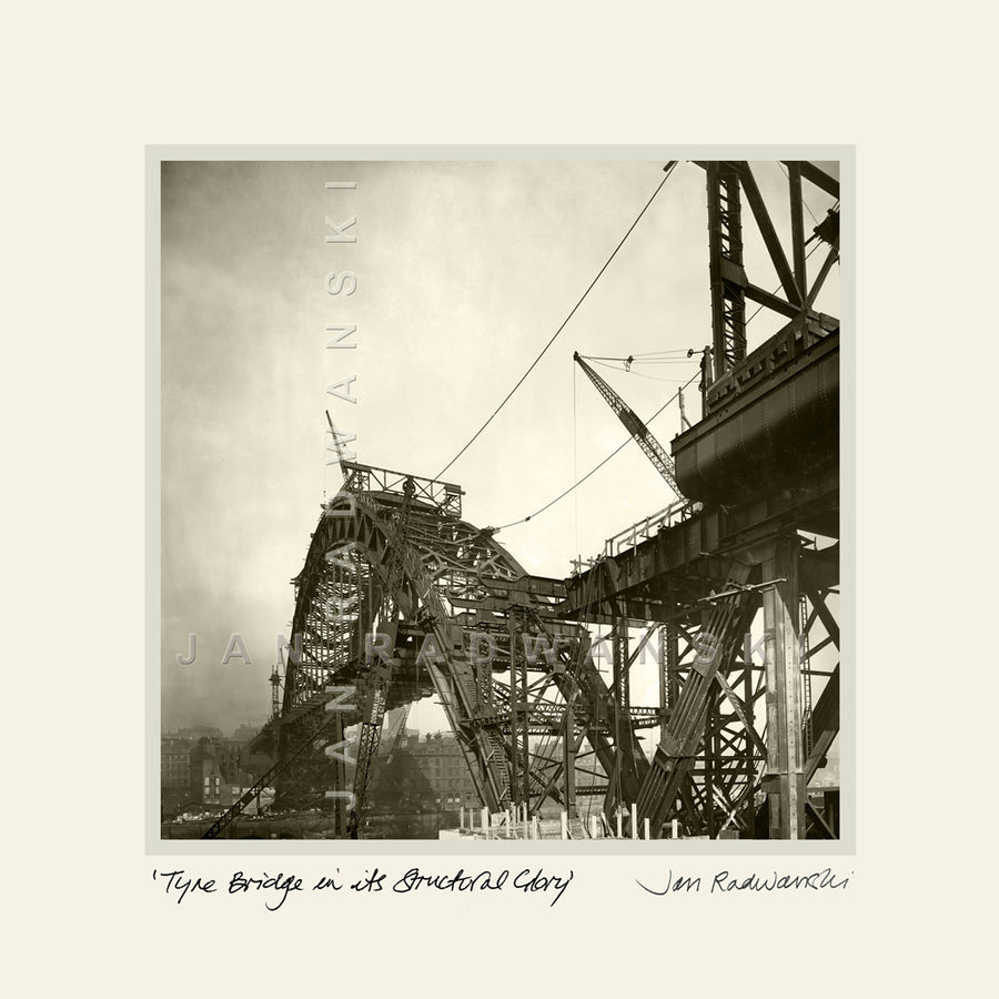 Tyne Bridge In Its Structural Glory | Mounted Fine Art Print