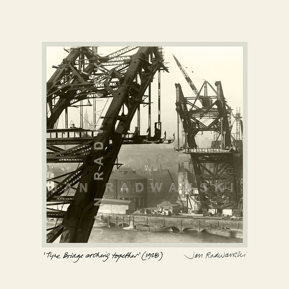 Tyne Bridge Arching Together (1928) | Mounted Fine Art Print