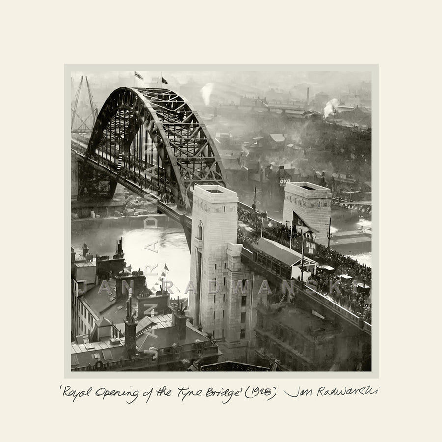 Royal Opening of the Tyne Bridge (1928) | Mounted Fine Art Print