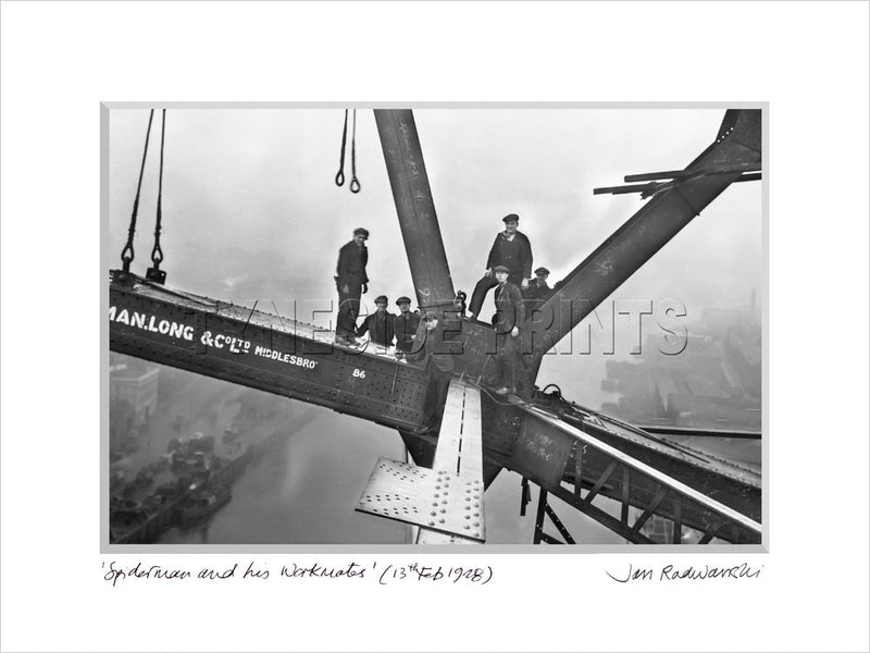 Spiderman and his Workmates Tyne Bridge 1928 Mounted Fine Art Print