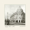 Grainger Street Newcastle (1885) | Size 1 [S] 250mm x 250mm | Mounted Fine Art Print