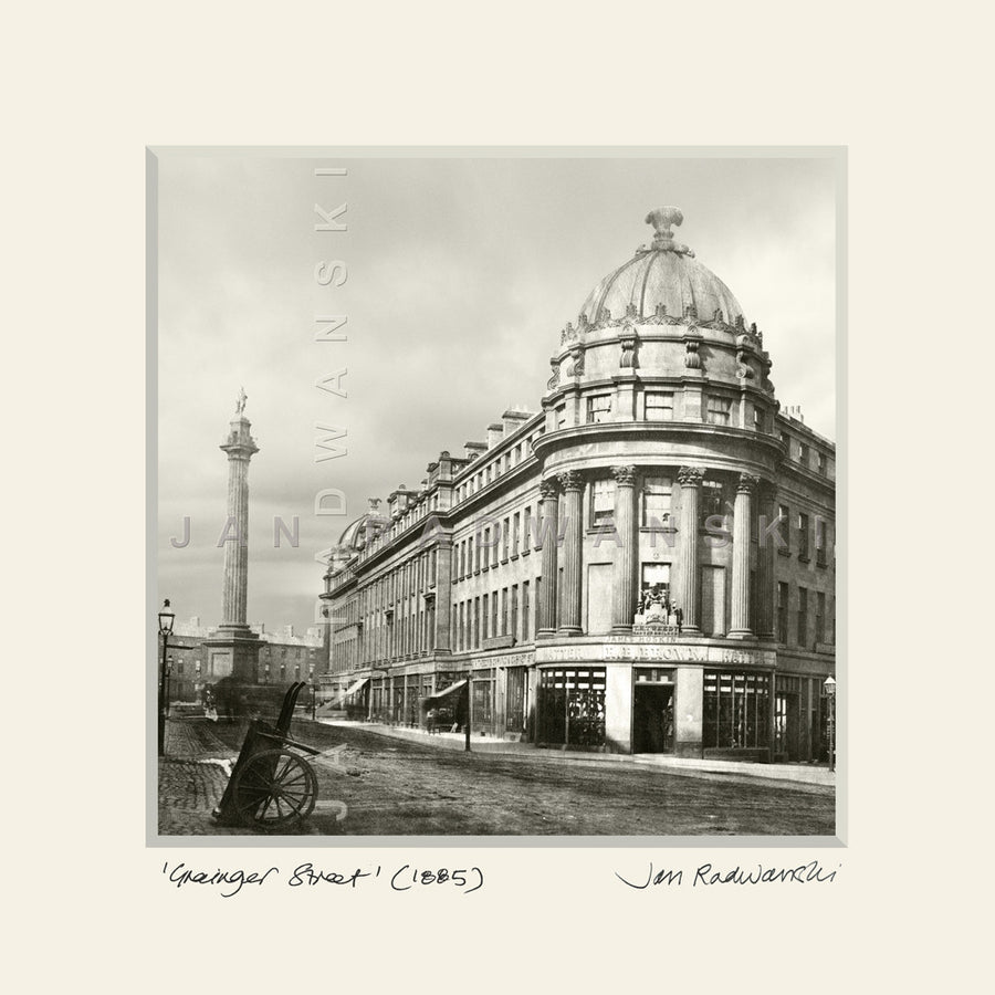 Grainger Street Newcastle (1885) | Mounted Fine Art Print