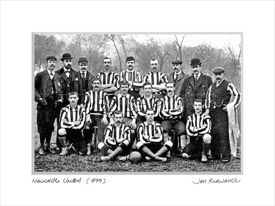 Newcastle United 1895 Mounted Fine Art Print