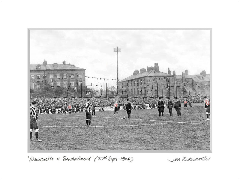 Newcastle United v Sunderland 1904 - Mounted Fine Art Print