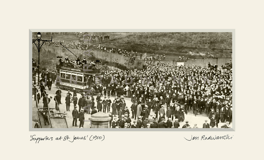Newcastle United Supporters At St. James' Park (1910) | Mounted Fine Art Print