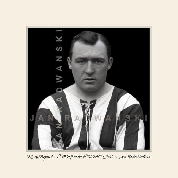 Albert Shepherd Scorer 1st FA Cup Win 1910 Newcastle United | Size 2 32cm x 32cm | Mounted Fine Art Print
