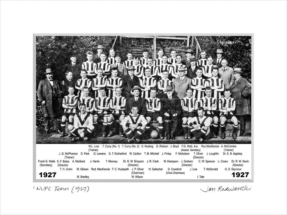 Newcastle United 1927 Mounted Fine Art Print