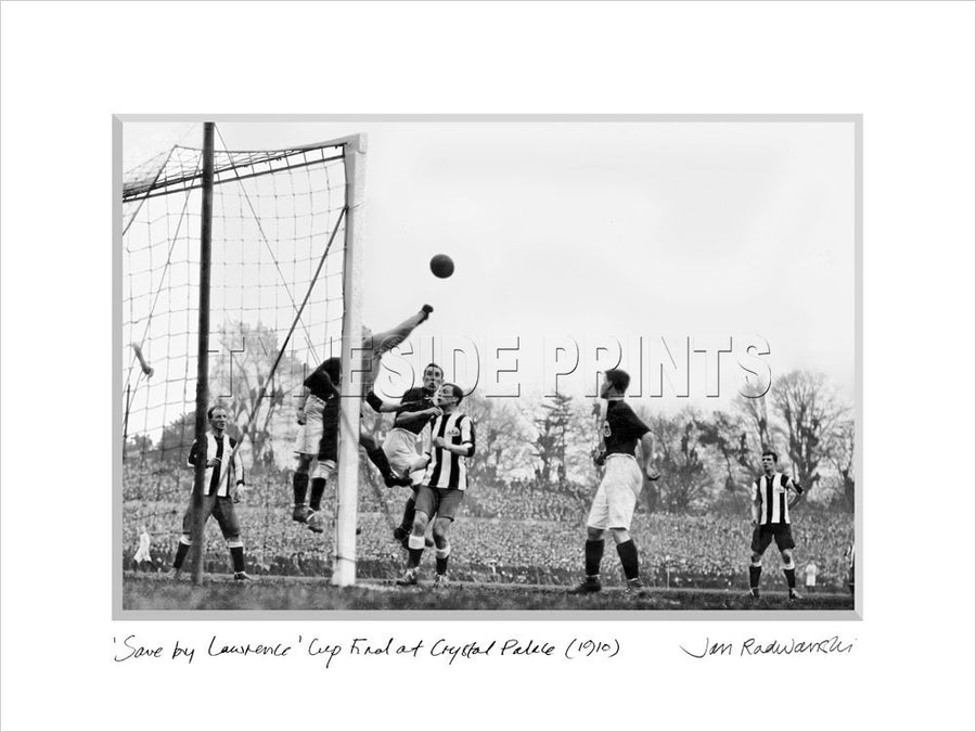 Save By Lawrence Newcastle United FA Cup 1910 Mounted Fine Art Print