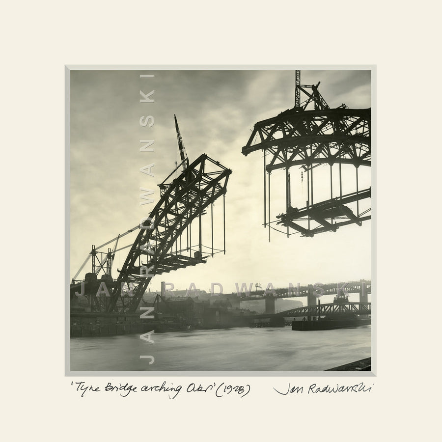 Tyne Bridge Arching Over (1928) | Size 2 [S] 320mm x 320mm | Mounted Fine Art Print