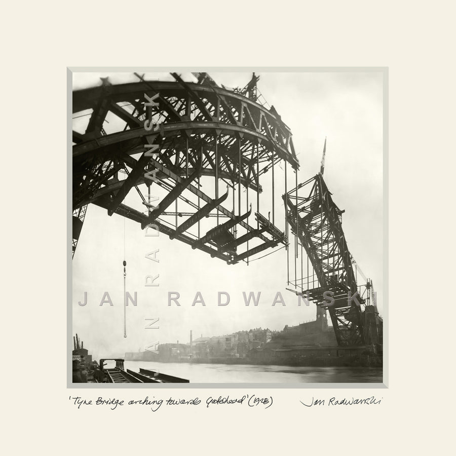 Tyne Bridge Arching Towards Gateshead (1928) | Size 2 [S] 320mm x 320mm | Mounted Fine Art Print
