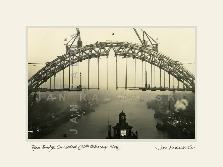 Tyne Bridge Connected (1928) | Size 2 [L] 400mm x 300mm | Mounted Fine Art Print