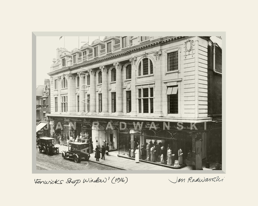 Fenwicks Shop Window Newcastle (1916) | Size 1 [L] 250mm x 200mm | Mounted Fine Art Print