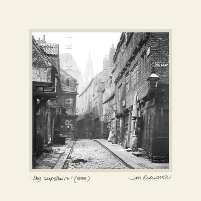 Dog Leap Stairs Newcastle (1895) | Size 1 [S] 250mm x 250mm | Mounted Fine Art Print