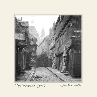 Dog Leap Stairs Newcastle (1895) | Size 2 [S] 320mm x 320mm | Mounted Fine Art Print