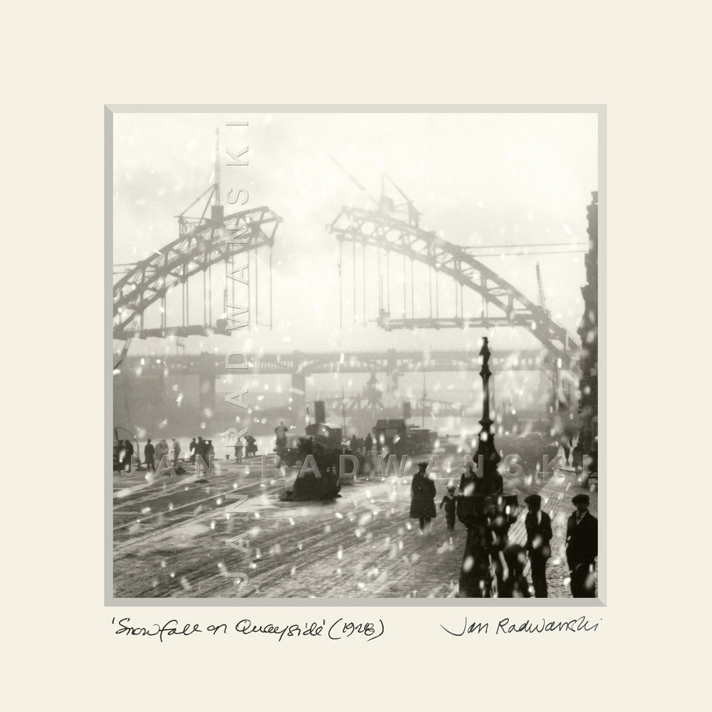 Snowfall on Quayside (1928) | Size 2 [S] 320mm x 320mm | Mounted Fine Art Print