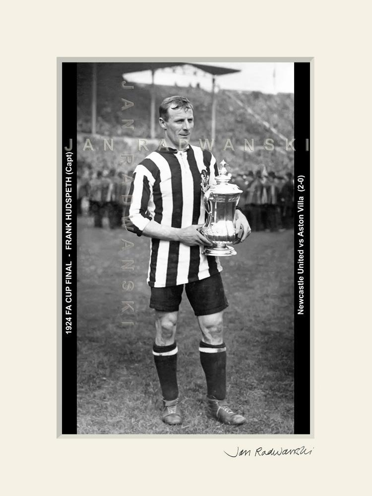 Frank Hudspeth Newcastle United FA Cup Captain 1924 | Mounted Fine Art Print