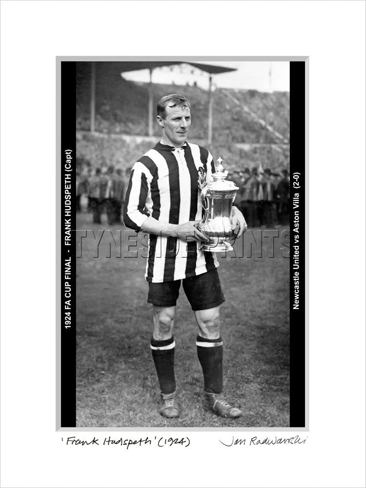 Frank Hudspeth Newcastle United 1924 Mounted Fine Art Print