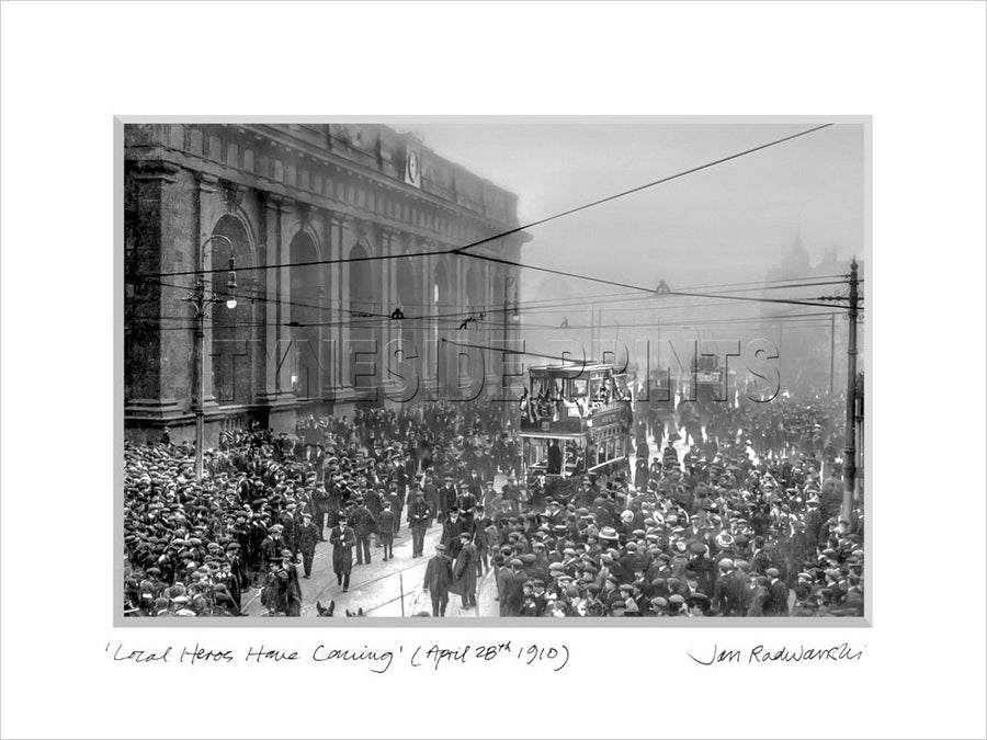 Local Heroes Home Coming Newcastle United 1910 Mounted Fine Art Print
