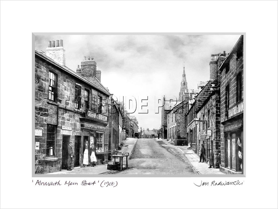 Alnmouth Main Street 1900 Mounted Fine Art Print
