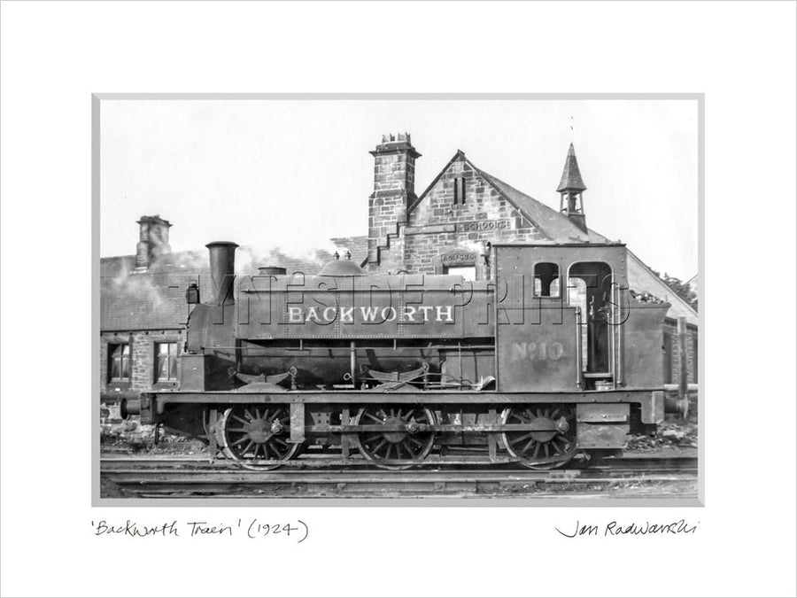 Backworth Train 1924 - Mounted Fine Art Print