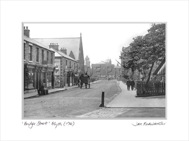 Bridge Street Blyth 1916 Mounted Fine Art Print