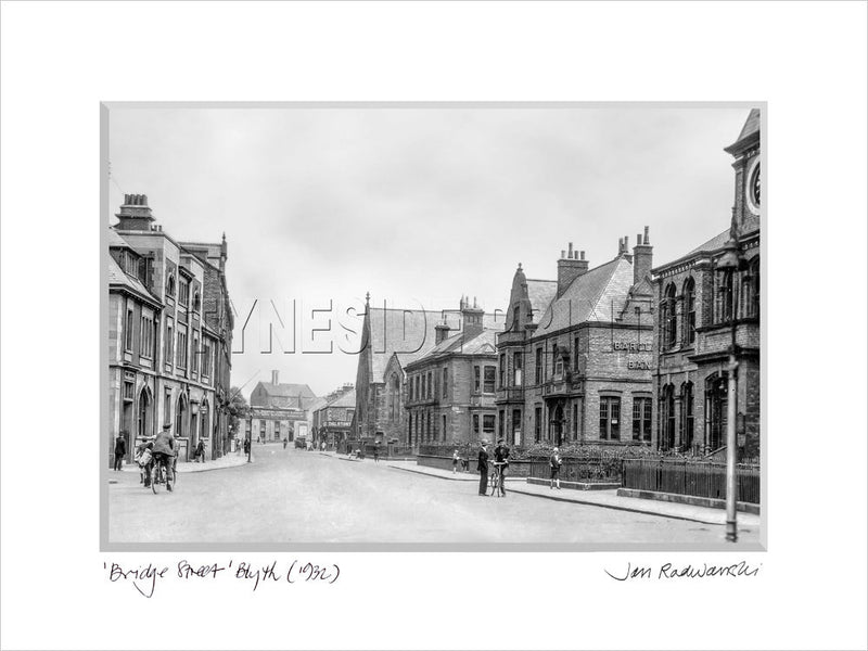Bridge Street Blyth 1932 Mounted Fine Art Print