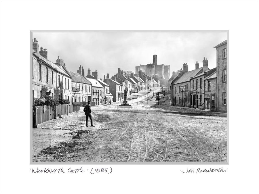 Warkworth Castle Northumberland 1885 Mounted Fine Art Print
