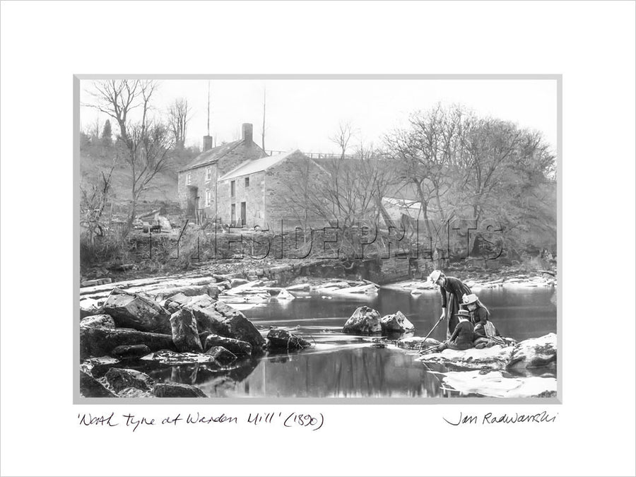 North Tyne At Warden Mill 1890 Mounted Fine Art Print