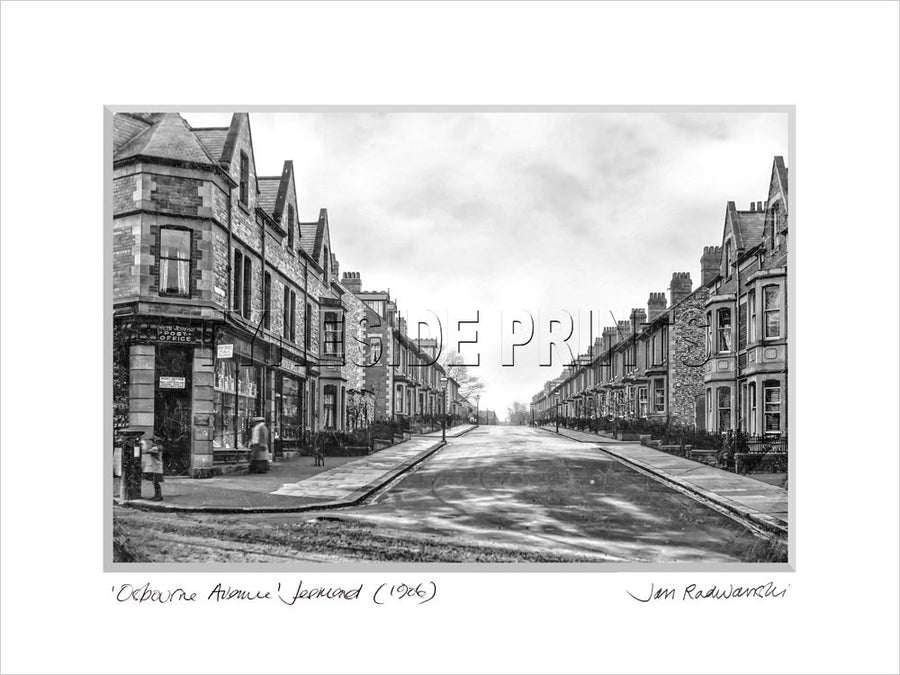 Osbourne Avenue Jesmond Newcastle 1906 Mounted Fine Art Print