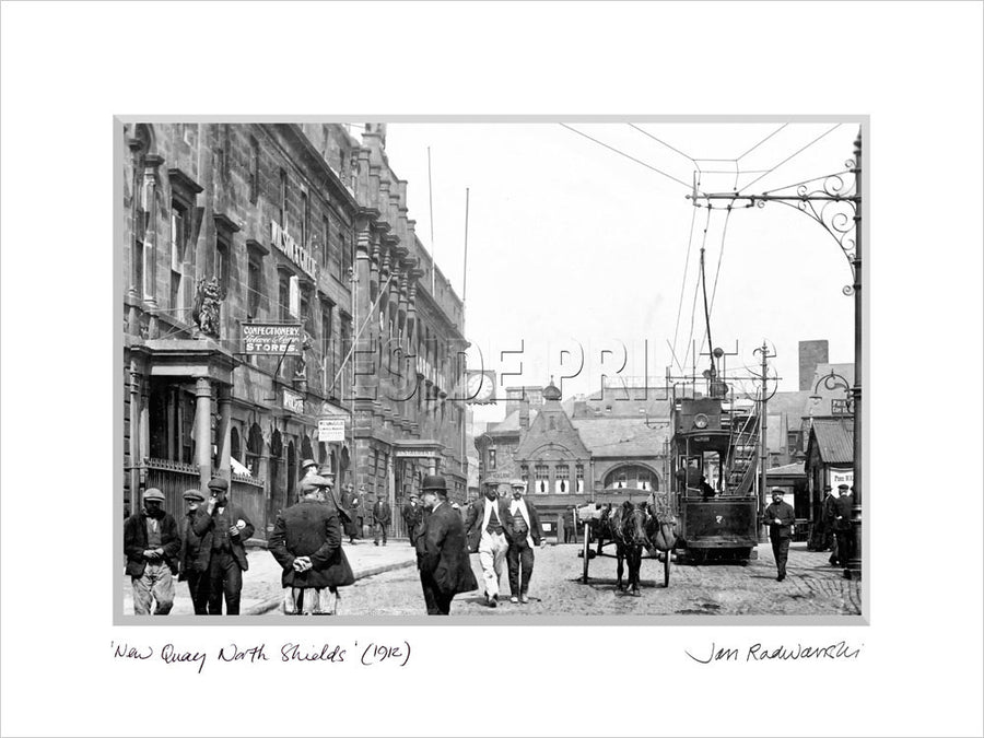 New Quay North Shields 1912 Mounted Fine Art Print
