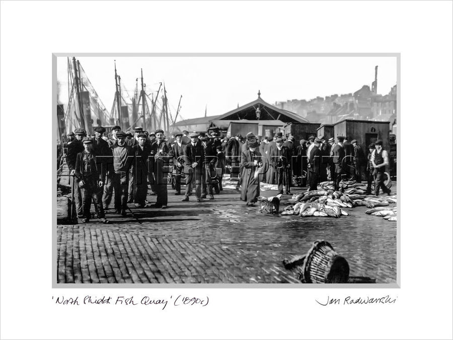 North Shields Fish Quay 1880s Mounted Fine Art Print