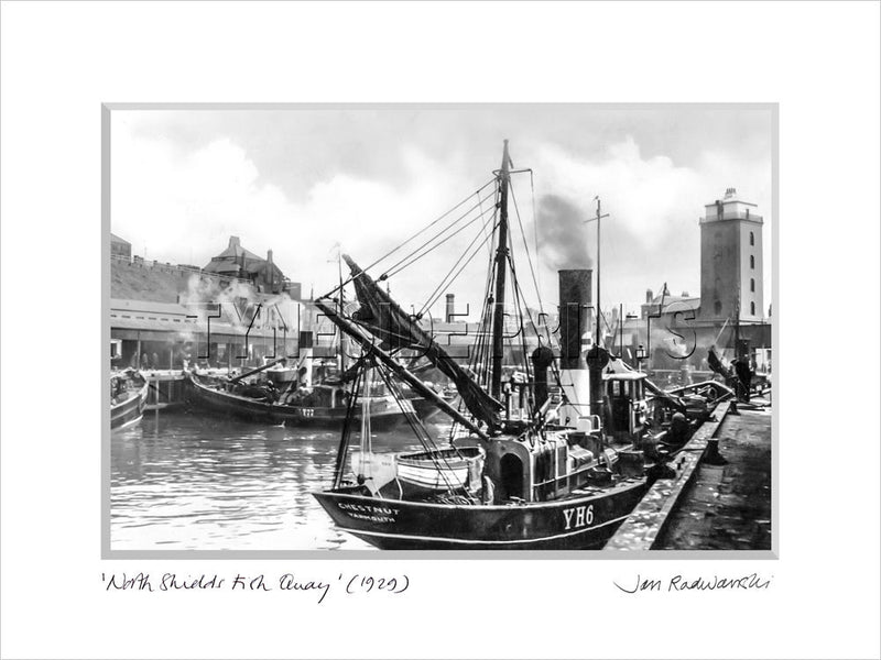 North Shields Fish Quay 1929 Mounted Fine Art Print