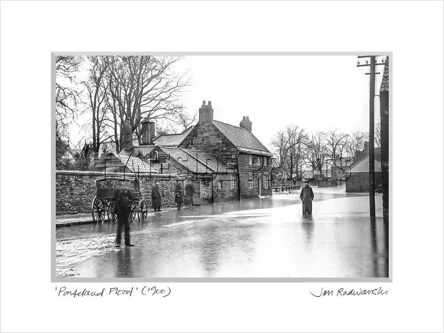 Ponteland Flood Northumberland 1900 Mounted Fine Art Print