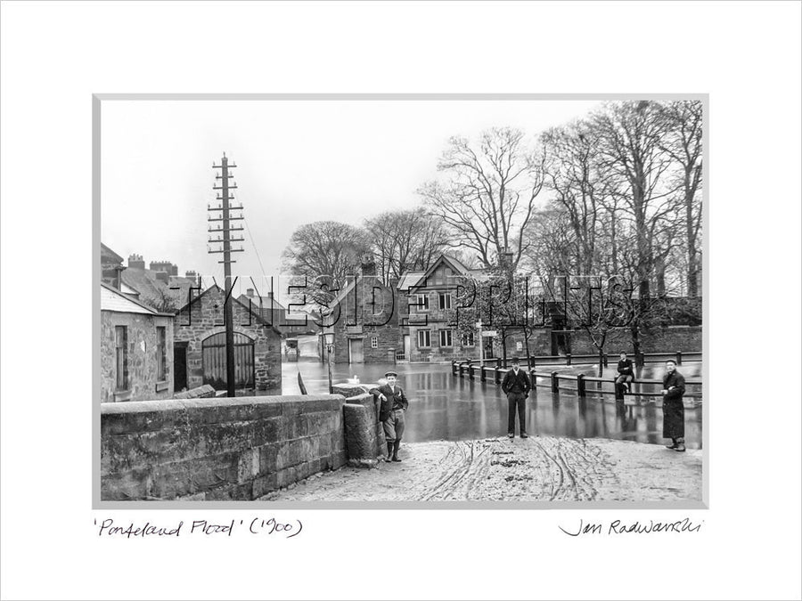 Ponteland Flood 1900 Mounted Fine Art Print