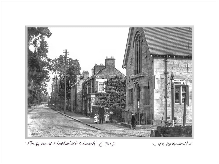 Ponteland Methodist Church 1911 Mounted Fine Art Print