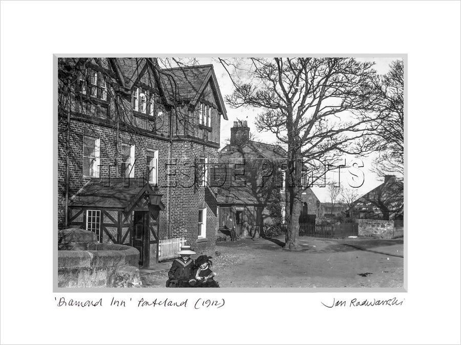 Diamond Inn Ponteland Northumberland 1912 Mounted Fine Art Print