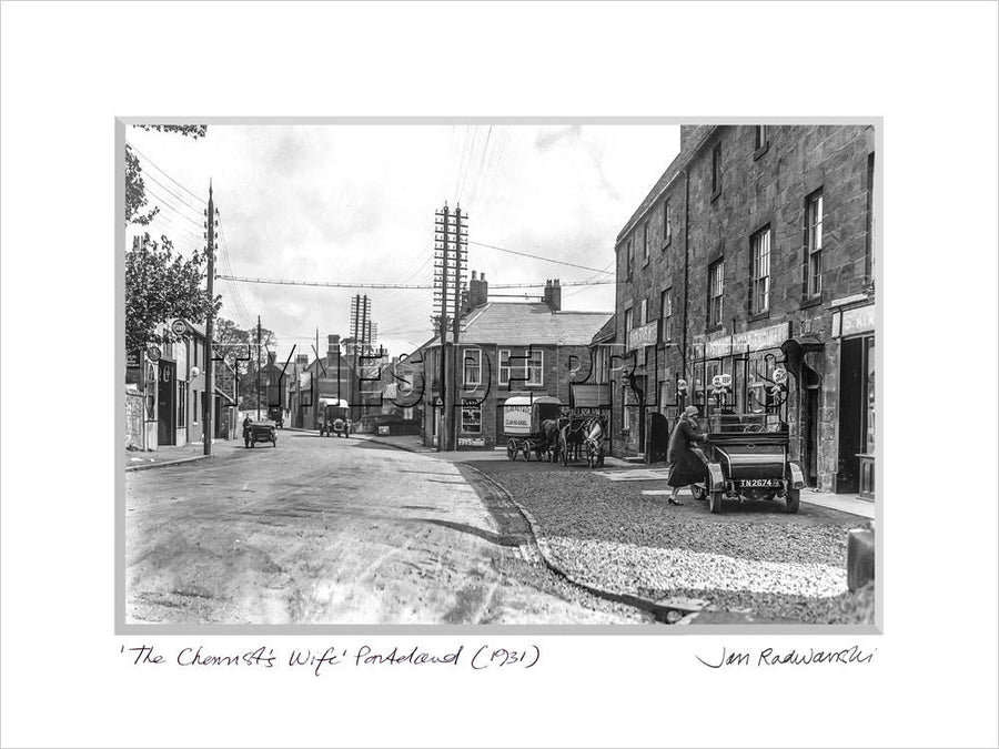 The Chemist's Wife Ponteland 1931 - Mounted Fine Art Print