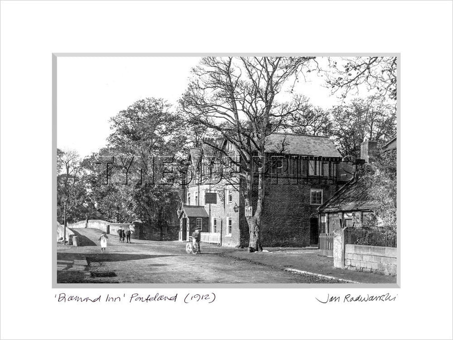 Diamond Inn Ponteland 1912 - Mounted Fine Art Print