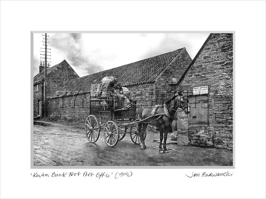 Kenton Bank Foot Post Office 1905 - Mounted Fine Art Print