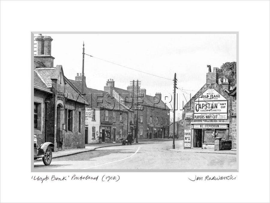 Lloyds Bank Ponteland 1908 Mounted Fine Art Print