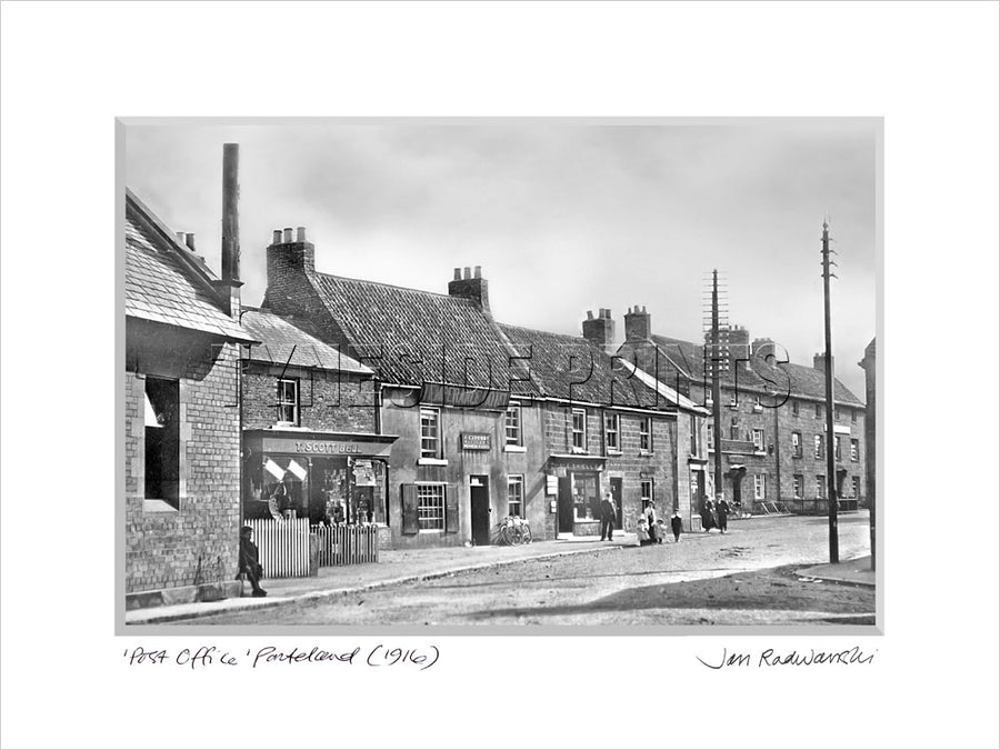 Post Office Ponteland 1916 Mounted Fine Art Print