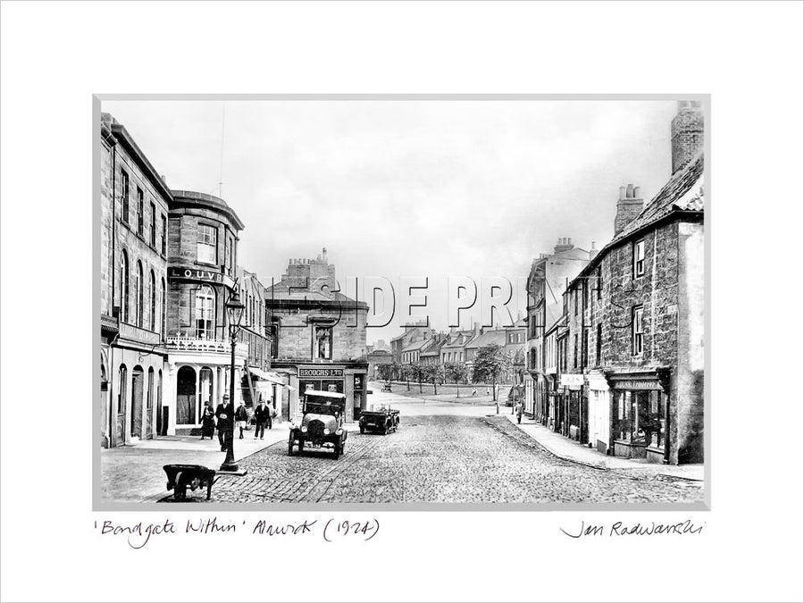 Bondgate Within Alnwick 1924 Mounted Fine Art Print