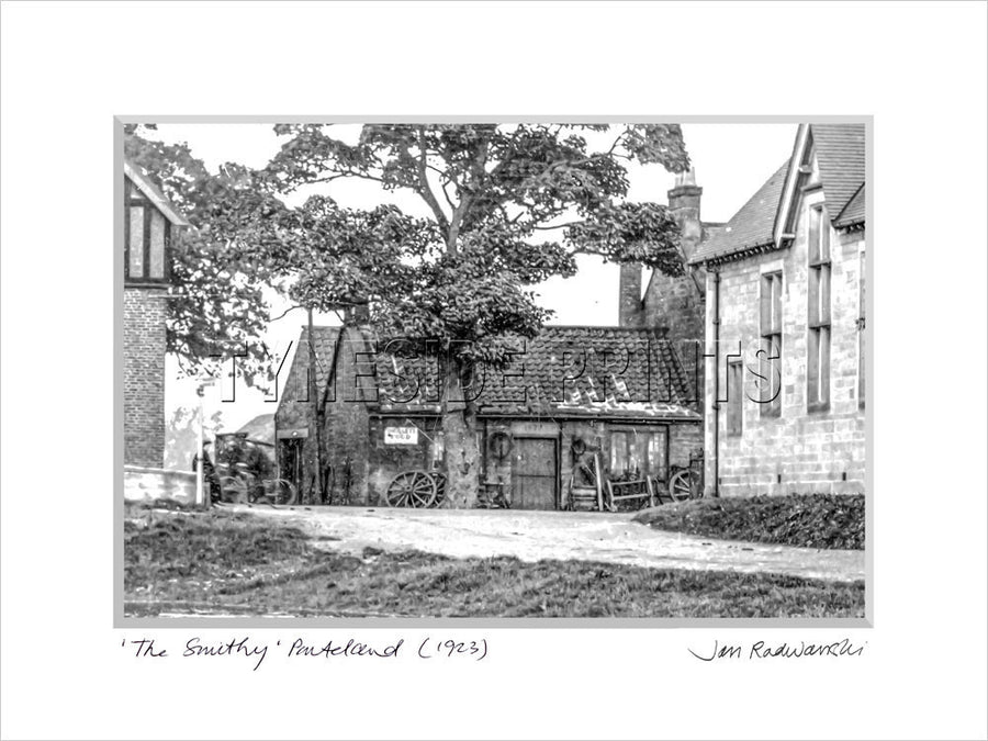 The Smithy Ponteland 1923 Mounted Fine Art Print