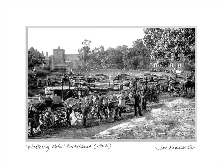 Watering Hole Ponteland 1902 Mounted Fine Art Print