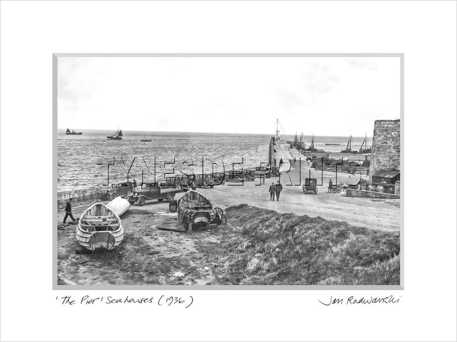 The Pier Seahouses 1936 - Mounted Fine Art Print