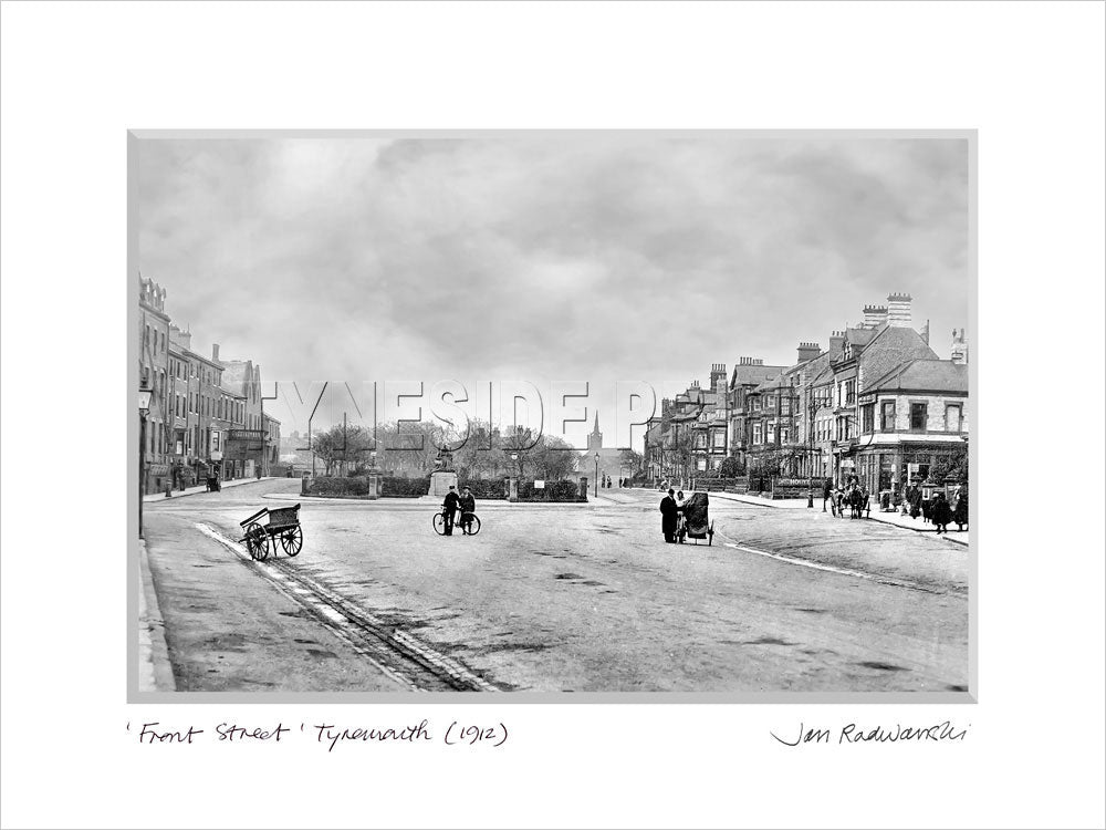 Front Street Tynemouth 1912 - Mounted Fine Art Print