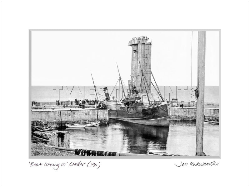 Boat Coming In Craster 1911 Mounted Fine Art Print