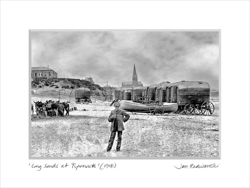 Long Sands at Tynemouth 1880s - Mounted Fine Art Print