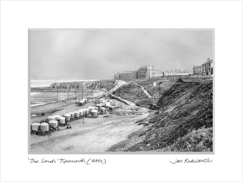 The Sands Tynemouth 1880s - Mounted Fine Art Print