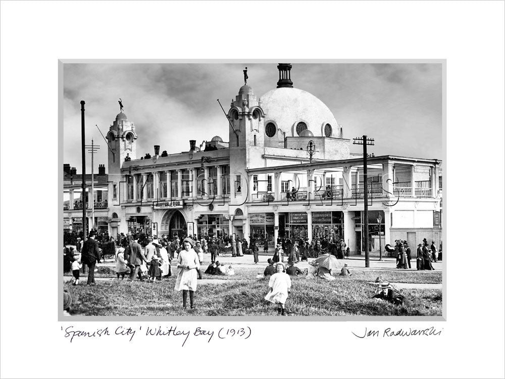 Spanish City Whitley Bay 1913 - Mounted Fine Art Print
